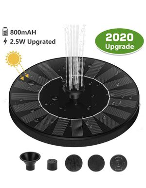 Bird Bath Solar Fountain, 2.5W 7V Backyard Solar Fountain Pump with 800 mAh Battery Backup, Free-Standing Floating Solar Powered Water Bubbler Pump for Sale in Westminster, CA