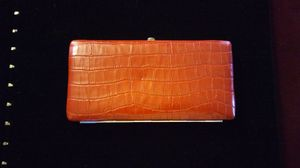 """Red Croc Leather Clutch Wallet...9x5"""" for Sale in Dallas, TX"""