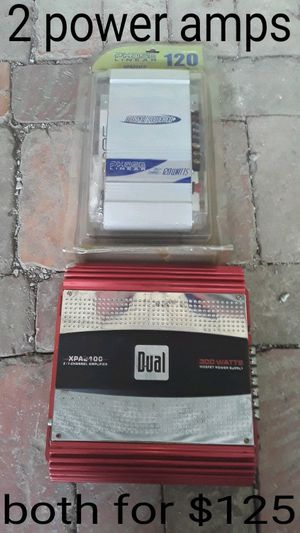 Both power amps for $125 for Sale in Mt. Juliet, TN