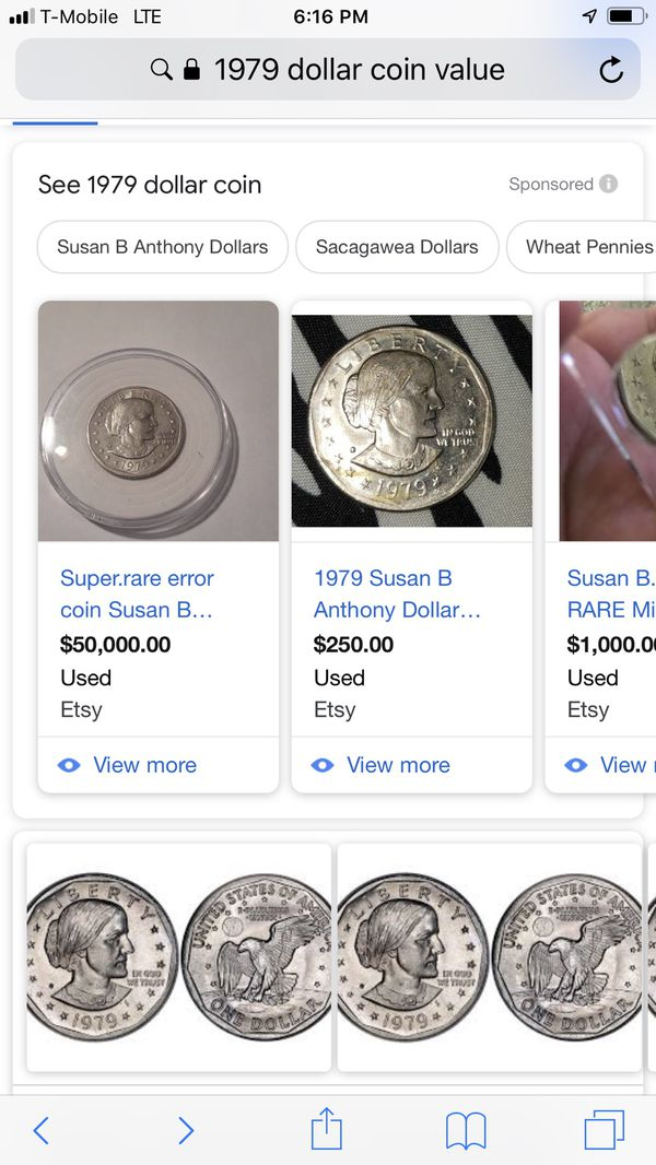"1979 ""blob"" mint mark susan b Anthony dollar for Sale in Bakersfield, CA -  OfferUp"