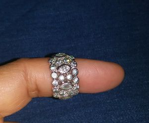 Sterling silver ring with cubic zirconia and diamonds for Sale in San Jose, CA