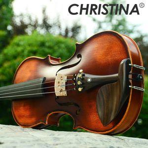 ** Italy Christina V02 beginner Violin 4/4 Maple Violino 3/4 Antique matt High-grade Handmade acoustic violin fiddle case bow rosin** for Sale in undefined