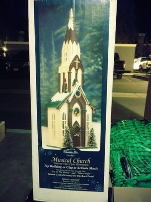 Vintage Fiber Optic Christmas Church... With Original Box for Sale in Rancho Cucamonga, CA