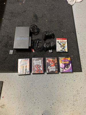 PlayStation 2 Guitar hero guitar hero two guitar hero 3N play station two greatest hits two controllers NNH megabyte memory card for Sale in Redondo Beach, CA