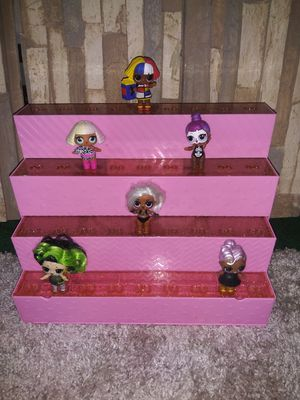 LOL Doll Display (Up To 36 Dolls) & Doll House DOLLS NOT INCLUDED for Sale in Winter Haven, FL