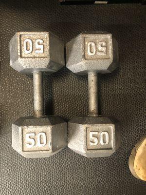 50 LB Dumbbells for Sale in Tampa, FL
