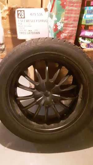 22 inch rims matte black brand new tires for Sale in Columbus, OH