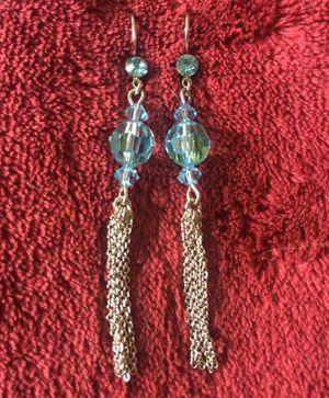 Blue beaded silver fringe earrings for Sale in Midlothian, VA