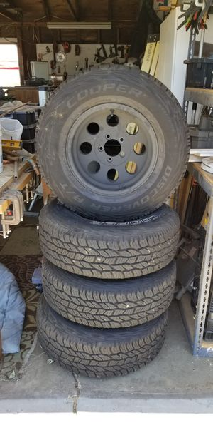 Cooper Discovery A/T tires. With PRO Comp Wheels. 5 lug jeep wheels 235/75 R15 for Sale in Santee, CA