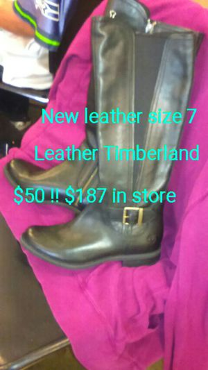 New leather boot timberland $20 for Sale in Seattle, WA