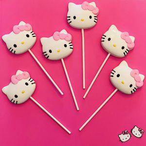 Hello kitty Chocolate lollipops for Sale in Miami, FL