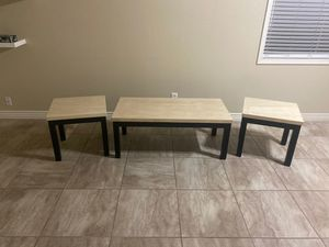Coffee table/ side table set for Sale in Avondale, AZ