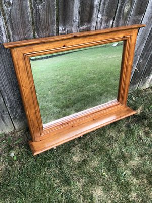 Large Wooden Coat Rack and Mirror for Sale in Hilliard, OH