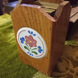 Vintage oak box match holder & 3 boxes of matches for Sale in Akron, OH