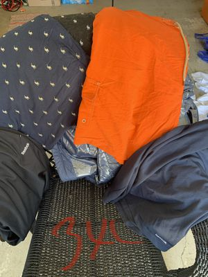 Three XL Adidas Reebok polo shorts and pants for Sale in Decatur, GA