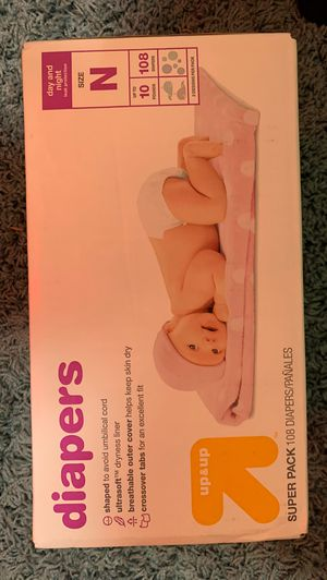 Brand New Target 108 Newborn Diapers ! for Sale in Brooklyn, NY
