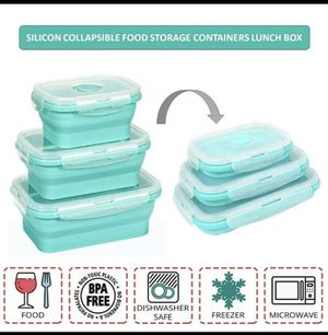 Collapsible silicone food storage container for Sale in West Chester, PA