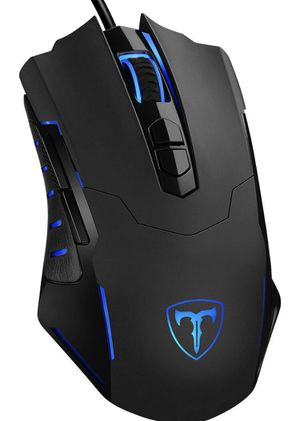 PICTEK Gaming Mouse Wired [7200 DPI] [Programmable] [Breathing Light] Ergonomic Game USB Computer Mice RGB Gamer Desktop Laptop PC Gaming Mouse, 7 Bu for Sale in Los Angeles, CA