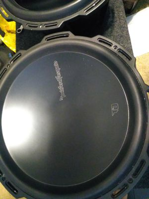 1 Rockford fosgate T0 15 inch subwoofer d4 ohm excellent condition all black basket $220 *no box* I have 2 available. Also have a t1 15 available $275 for Sale in Mesa, AZ