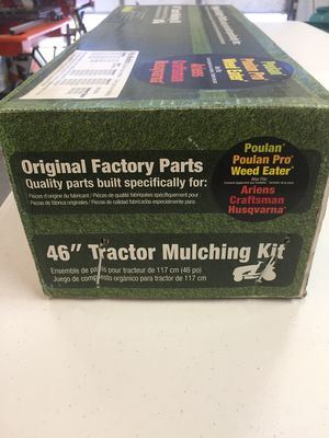 """Universal 46"""" Lawn mower tractor attachment Mulching Kit New in Box for Sale in Mesa, AZ"""