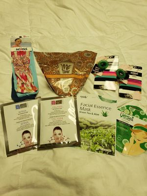 Face masks, Epsom salts, hair scrunchies, headbands for Sale in East Brunswick, NJ