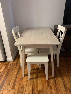 IKEA dining table plus 2 chairs and 2 stools for Sale in Brooklyn, NY