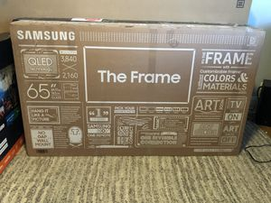 """65"""" Samsung """"THE FRAME """" QLED 4K UHD Smart TV for Sale in Brooklyn, NY"""