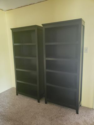 Two tall wood bookshelves for Sale in Austin, TX