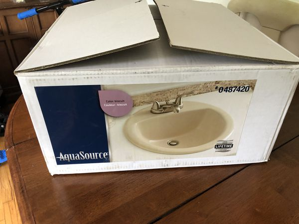 Aquasource White Drop In Round Bathroom Sink With Overflow Drain Item 289798 Model Ml 20507 For Sale In Bay Shore Ny Offerup