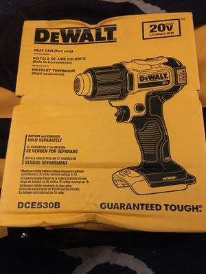 Dewalt tools heat gun read profile for Sale in White Plains, NY