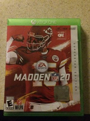 Madden 20. Xbox 1 for Sale in Wheat Ridge, CO