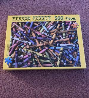 Puzzle crayola crayons 500 pieces for Sale in Bethel, CT