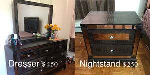 Dresser with Mirror & Nightstand SET for Sale in Jersey City, NJ