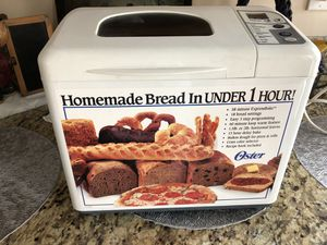 Bread maker, oyster, brand, missing recipe book. for Sale in Long Beach, CA