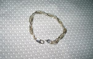 "Sterling Silver .925 heavy rope 7.5"" long 1/4 in wide bracelet Lobster claw NICE,GUARANTEED STERLING SILVER for Sale in Round Rock, TX"