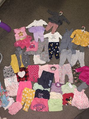 Newborn Baby Girl Clothes Lot 0-3 3-6 Months Over 130 items! for Sale in Wheaton, IL