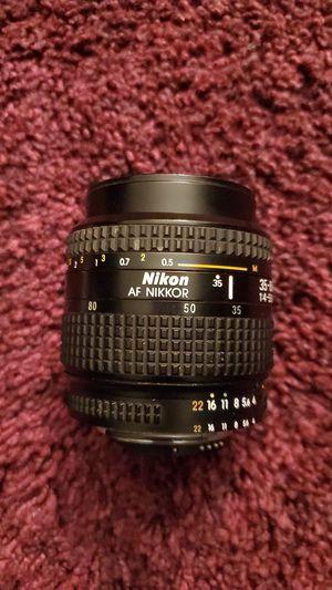 Nikon AF NIKKOR 35-80 1:4 -5.6 D and Nikon N50 FILM for Sale in Brownsville, TX