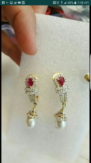 STERLING SILVER DIAMOND EARINGS for Sale in New York, NY