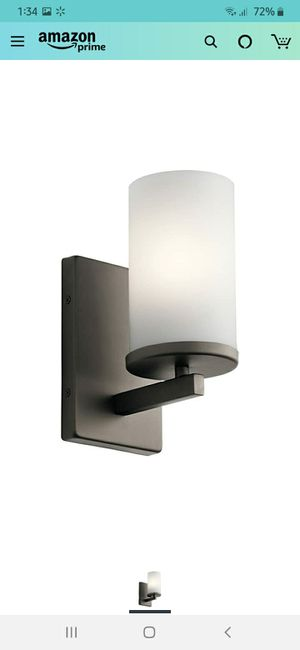 Bronze sconce light fixture for Sale in Victorville, CA