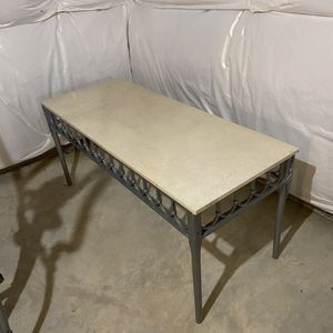 Marble Table With Iron Frame for Sale in Joliet, IL