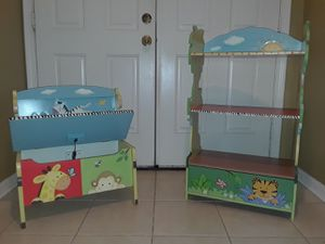 Teamson Kids Sunny Safari Bookshelf and Toy Box for Sale in Riverview, FL