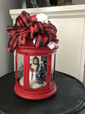 Handmade holiday lantern with tiny lights for Sale in Elmwood Park, IL