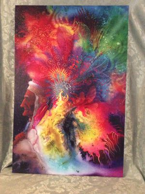Native American Chief Abstract Print On Canvas Gorgeous! for Sale in Bauxite, AR