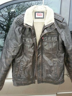LEVI lether bomber jacket sizeS for Sale in Glen Burnie, MD
