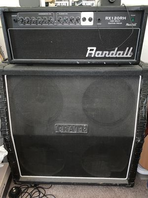 Jackson Guitar 7 String (Hardly Used!), Randall Amp Head, Crate Cabinet, Foot Switch for Sale in San Jose, CA