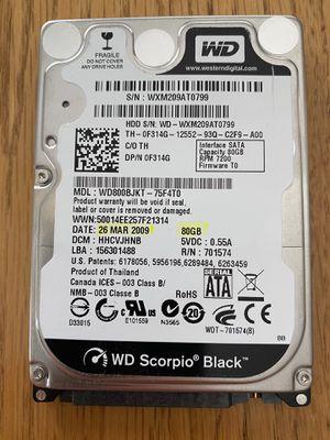"""Western Digital Scorpio Black 2.5"""" HDD (80GB) for Sale in Whitehouse, TX"""