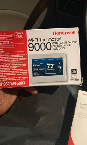 Color WiFi thermostat Honeywell for Sale in Clearwater, FL