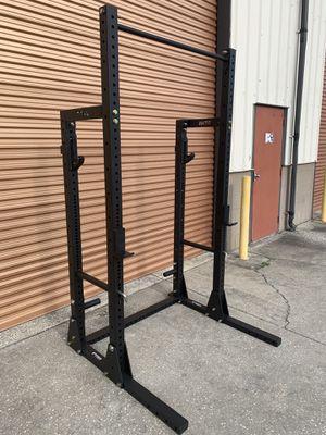 Titan x3 Half Rack- Dual Sets of J Hooks, Pull Up Bar, Weight Storage for Sale in Davenport, FL