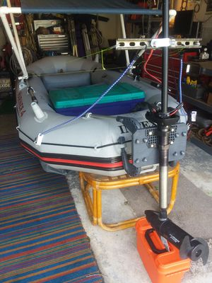 Intex Mariner 4 Rigid Inflatable Boat with Motor for Sale in Kissimmee, FL