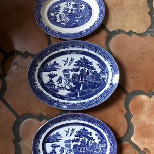 Blue Willow Platters - Set Of 3 for Sale in Tampa, FL